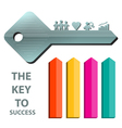 key to success concept background template 2 vector image