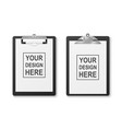 3d realistic black clipboard with folded vector image vector image