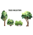 a collection of handmade trees watercolor vector image vector image