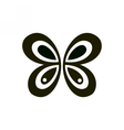 Abstract geometric black butterfly Sign or logo vector image vector image