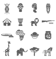 African culture black icons set vector image vector image