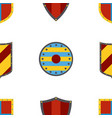ancient shields pattern heraldic shields in flat vector image