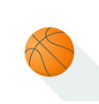 basketball icon isolated on background with long vector image vector image