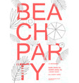 beach party colorful hawaii poster summer event vector image vector image