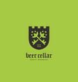beer cellar logo vector image