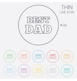 Best father sign icon Award symbol vector image