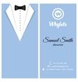 business card Blue tuxado vector image
