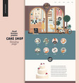 cake shop - small business -landing vector image vector image