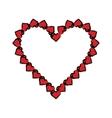 cartoon valentine day heart decorative vector image vector image