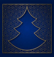 christmas tree patterned background vector image