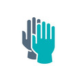cleaning gloves colored icon hand protective vector image vector image
