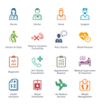 Colored Medical Services Icons - Set 2 vector image vector image