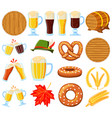 colorful cartoon 18 oktoberfest elements set vector image vector image