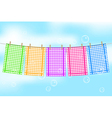 colorful towels vector image vector image