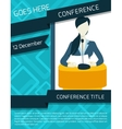 Conference announcement template vector image vector image