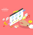 customer experience optimization isometric flat vector image