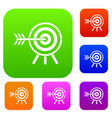 darts set collection vector image vector image