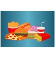 delicious fresh fast food menu icon vector image