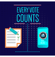 Digital usa election with every vote counts vector image vector image