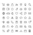 e-commerce online shopping line black 49 icons set vector image vector image