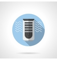Evaporative air cooler round flat icon vector image vector image