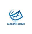 express air mail logo vector image vector image