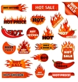 Fire and flame sale clearance vector image