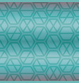 geometric seamless repeating pattern with hexagon vector image vector image