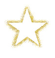 glitter star isolated vector image vector image