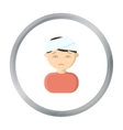 Head injury icon cartoon Single sick icon from vector image