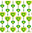 hearts and pearls seamless pattern vector image vector image