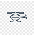 helicopter concept linear icon isolated on vector image vector image