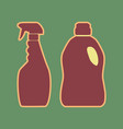 household chemical bottles sign cordovan vector image vector image