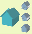 Infographics of house in 3d House with displaced vector image vector image