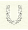 Letter U Golden Monogram Design element vector image vector image
