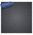 Linen texture with jeans label vector | Price: 1 Credit (USD $1)