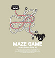 Maze Game With Dog And Bowl vector image vector image