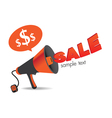 megaphone Sign Sale vector image vector image