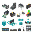 mining farm process set vector image