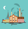 old factory retro flat design vector image