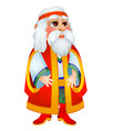 old man in clothes in slavic style isolated vector image