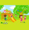 people having fun in park vector image vector image