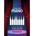 Piano music concert background Musical poster vector image vector image
