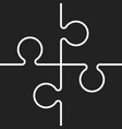 puzzle icon flat puzzle game sign symbol vector image vector image