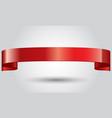 realistic red glossy shining ribbon vector image