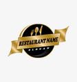 restaurant logotype vector image vector image