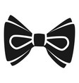 ribbon bow tie icon simple style vector image