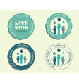 Save water conference logo and badge templates vector image vector image