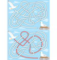 seagull maze vector image vector image