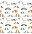 seamless pattern with hand drawn cartoon an vector image